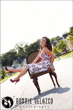 senior pictures, love the chair, great idea!
