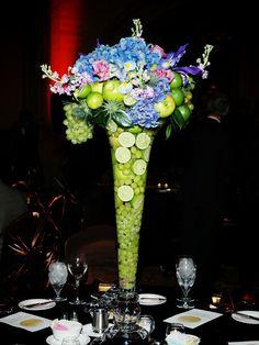 fruit + flower arrangement /// #flowers #floral #fruit #eventuresinc