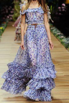 D&g Floral-print Silk-chiffon Maxi Dress in Multicolor (multicolored) | Lyst