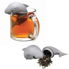 Silicone Shark Shaped Tea Infuser Reusable Portable Tea Strainer Coffee Herb Filter Empty Tea Bags Leaf Diffuser Accessories