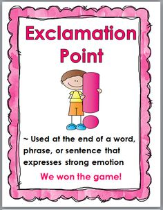 Punctuation Posters for Young Students (Color & B+W)