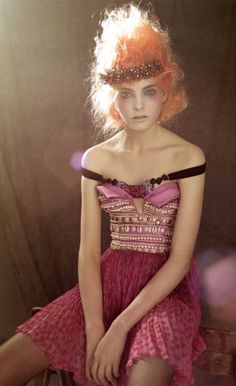 Dior 2009 CRAZY!   Still part of that Romantic-Zombie Marie Antoinette look...