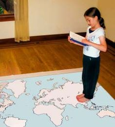 Girl walking on a map of the continents, reading a book. Girl walking on a map of the continents, reading a book. Girl walking on a map of the continents, reading a book. Geography For Kids, Maps For Kids, Teaching Geography, World Geography, Geography Activities, Teaching Social Studies, Social Studies Resources, Ecole Bilingue, Classroom Map
