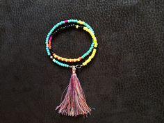 Unique /Handmade /Mala /Neckless / Bracelet Gemstone /Seedbeds /Multicolor