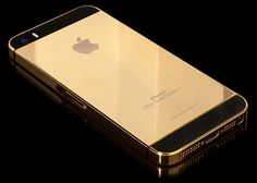 iPhone 5S en or 24 carats - #Luxe - Visit the website to see all photos http://www.arkko.fr/iphone-5s-en-or-24-carats/
