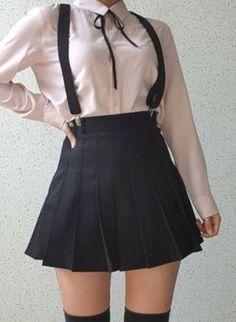 Trendy Fashion Korean Kawaii Source by kawaii Teenage Outfits, Edgy Outfits, Mode Outfits, Outfits For Teens, Girl Outfits, Fashion Outfits, Fashion Hacks, Fashion Tips, Korean Fashion
