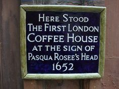 first coffee house