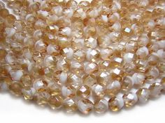 Czech Firepolished Beads 6mm Crystal White Celsian by GR8BEADS, $2.99