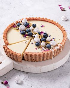 Lemon Custard Pie recipe by Yukiko The Feedfeed Tart Recipes, Sweet Recipes, Dessert Recipes, Dinner Recipes, Vegan Desserts, Delicious Desserts, Yummy Food, Healthy Food, Custard Desserts