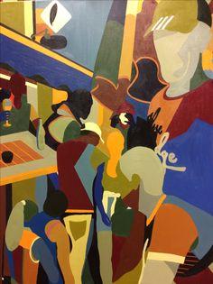 Olieverf schilderij 80 x 100