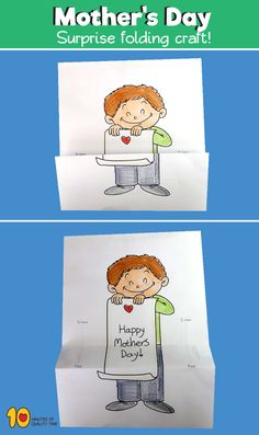Happy Mother's Day Surprise Folding Craft