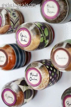 Naturally, a magnetic spice rack would also work well on the side of your fridge.