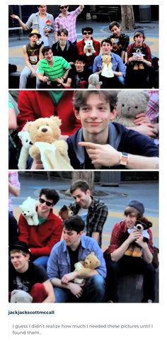 Newsies???? With teddy bears??? Look at smol Mike Faist in the center??? So pure???