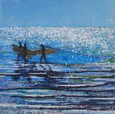 Constantine Bay, Sun-kissed Sea. Original Painting Sold - Print Available.