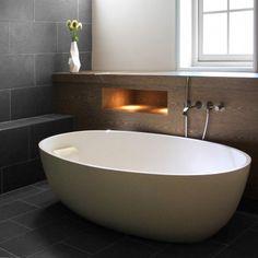 Complexe puzzel - Architectuur.nl Loft Bathroom, Washroom, Master Bathroom, Beautiful Bathrooms, Bathroom Inspiration, Architecture Design, Sweet Home, Bathtub, Toilet