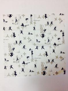 Furoshiki, ninja furoshiki, wrapping cloth, Japanese fabric, cotton fabric,  Ninja tapestry, Wall Hanging, Ninja gift on Etsy, ¥659.57