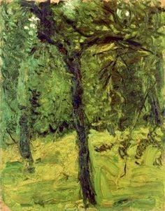 'Tree in the garden', 1907 by Richard Gerstl (1883-1908, Austria)