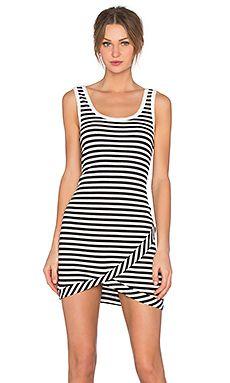 Stripe Dress in Black & White