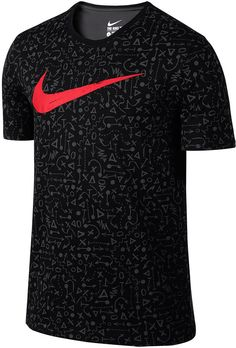 The dri-FIT moisture wicking technology of this graphic tee gives you the option of working out or lounging comfortably on a lazy day. dri-FIT crewneck cotton/polyester washable imported #nikesale #nike #nikeoffer #nikeapparels