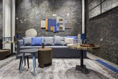 Paola Navone has completely redesigned the layout for the Gervasoni showroom in Milan in Via Durini. Paola Navone, Interior Design Studio, Showroom, Luxury Furniture, House Colors, Milan, Couch, Living Room, Architecture