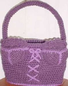 Crocheted Bra Purse Kassie, we should have found this pattern earlier!