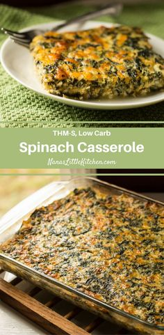 A Spinach Casserole so nutritious that it can serve as a meatless main dish, so delicious that it makes a great appetizer, and a wonderful side dish for potlucks!