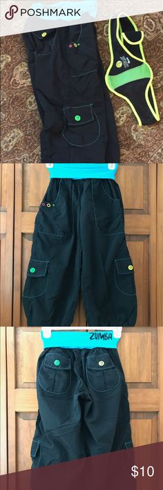 Zumba Fitness cargo crops and weight belt Zumba crop pants barely worn, in great condition from smoke-free home Zumba Fitness Pants Capris