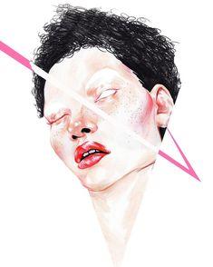 #minak #minakim #illust #illustration #illustrator #fashion #beauty #fashionista #fashionillust #drawing #sketch #pink #face #model #picture #digital #graphic #idmagazine #artwork #일러스트 #드로잉