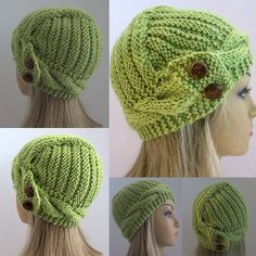 Ravelry: Elenna - The Hat with A Diagonal Design pattern by Grace Rose