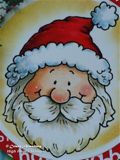 Crissy's Art & Heart: Video: Santa with Copics - coloring white hair/beard