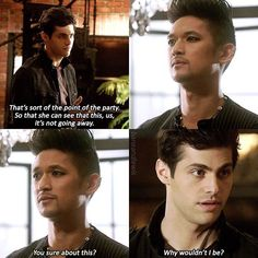 """#Shadowhunters 2x08 """"Love Is a Devil"""" - Alec and Magnus"""