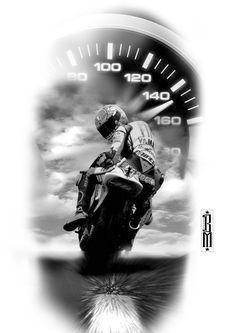motorbike sportbike tattoo speed bikers digital tattoos