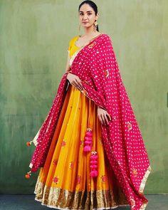 Buy Yellow Thread Work Georgette Party Wear Lehenga Choli with Pink Dupatta - Lehenga Choli for Women from Ethnic Plus at Discount✓Cash On Delivery✓Free Return✓International Shipping. Ghagra Choli, Bridal Lehenga Choli, Indian Lehenga, Silk Dupatta, Pakistani, Drape Sarees, Lehenga Saree, Chiffon Saree, Indian Bridesmaid Dresses