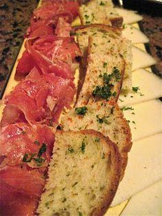 Malaga's Prosciutto, manchego cheese and crostinis