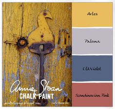 Natural accents for the garden. Stone and Terra Cotta in a garden armoire provide inspiration for a Annie Sloan Chalk Paint® color palette.