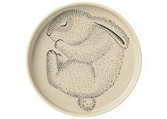 Bezaubernder Keramikteller mit hohem Rand Bloomingville | Kindershop Das Kleine Zebra