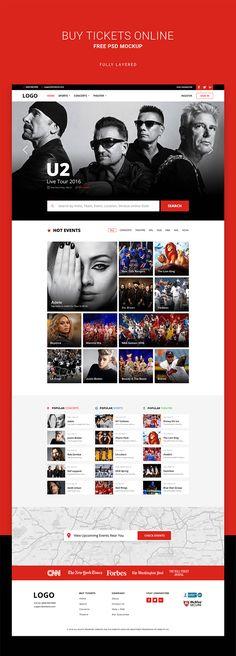 1 (12) Homepage Web, U2 Live, Buy Tickets Online, Website Designs, Color Pallets, Web Design, Template, Graphics, Colour
