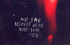 No One Belongs Here