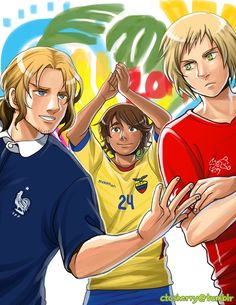 FIFA World Cup 2014: France, Ecuador, and Switzerland - Art by ctcsherry.tumblr.com