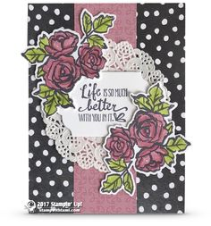 CARD Today's card is part 2 in my series on the Stampin Up Petal Palette stamp set and Petals & More dies. Today's card is a beautiful design, versatile and great for many occasions. Think Birthday, Valentine's day, Mother's day and more. Scrapbooking, Scrapbook Cards, Hand Stamped Cards, Cards For Friends, Friend Cards, Stamping Up Cards, Mothers Day Cards, Paper Cards, Flower Cards