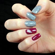 50 shades of grey- manicure with OPI Cement the deal and Essence Be berry now!