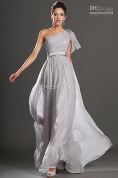 Wholesale Evening Dresses - Buy Inexpensive 2013 One Shoulder Light Grey A-Line Long Evening Dresses Prom Dress Pageant Gowns ED100, $107.95 | DHgate