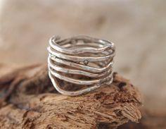 Sterling Free Form Band Ring  Branches Ring by serpilguneysu, $55.00