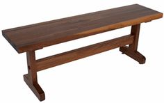 John Boos Walnut Trestle Table Bench