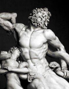The inspirational Laocoon & his sons, Vatican City..... The discovery of the Laocoön made a great impression on Italian sculptors and significantly influenced the course of Italian Renaissance art. Michelangelo is known to have been particularly impressed by the massive scale of the work and its sensuous Hellenistic aesthetic, particularly its depiction of the male figures.