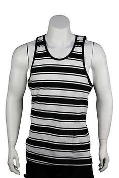 Jordan Craig Stripe Tank Top Black - White