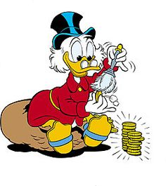 Saving money is a priority for many. Is there ever a point where the idea of saving money overshadowing everything else including living life is ok? When do you cross the line from being frugal to being cheap? Donald Duck Characters, Donald Duck Comic, Cartoon Characters, Disney Magic, Disney Art, Walt Disney, Tweety, Dagobert Duck, Uncle Scrooge