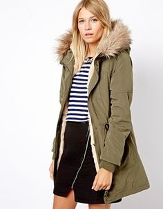 SIA Womens Coat Parka With Detachable Faux Fur Lining Hooded - Google Search