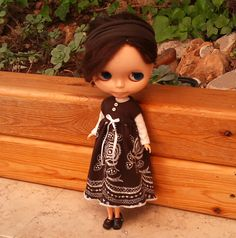 SALE Brown dress for Blythe by RainbowDaisies on Etsy