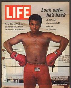 "Muhammad Ali Autographed Life Magazine Cover ""Enjoy Life its later than you think"" PSA/DNA Muhammad Ali, Life Magazine, Fitness Magazine, Kickboxing, Muay Thai, Jiu Jitsu, Float Like A Butterfly, Gordon Parks, Life Cover"